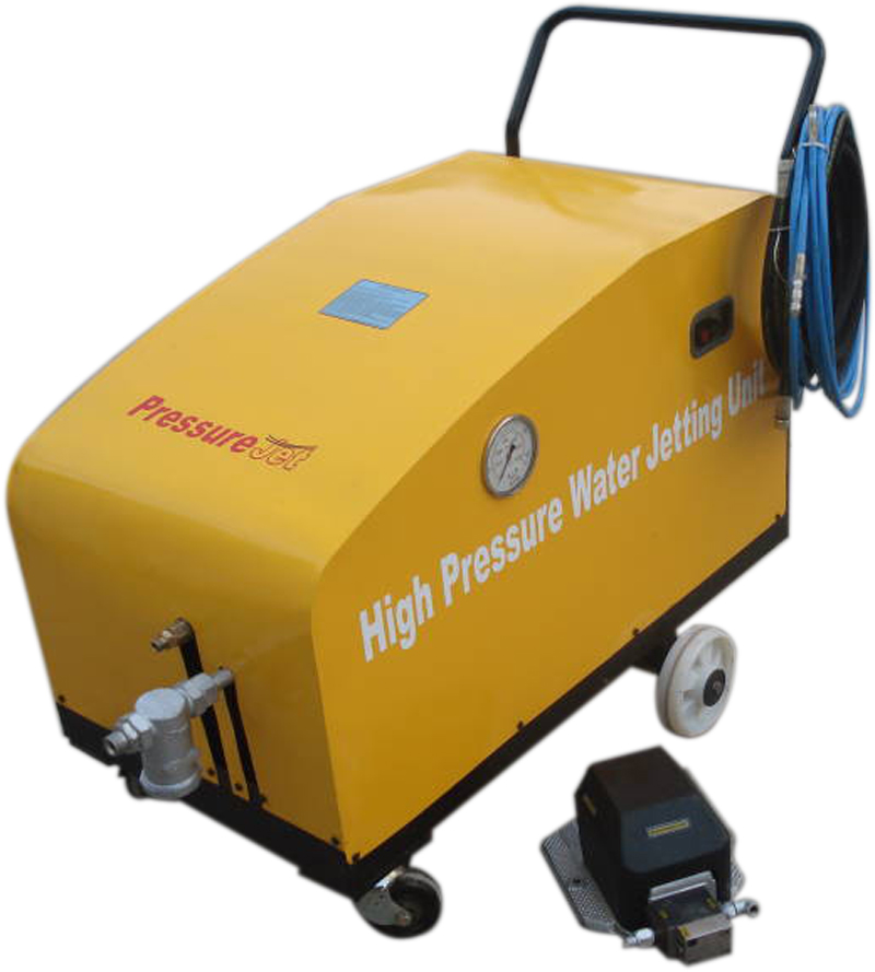 High pressure hydro blast machine