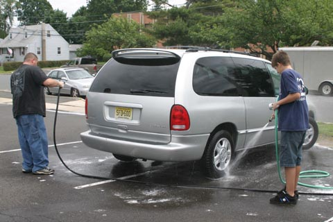 Car wash double gun system