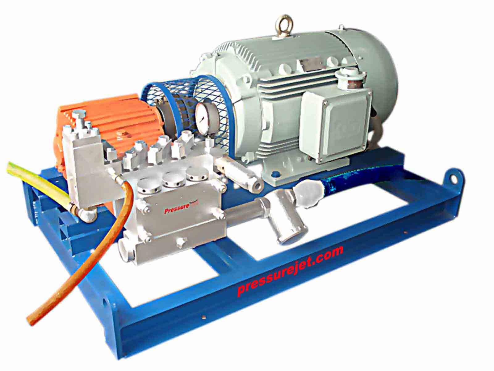 High pressure hydroblasting machine