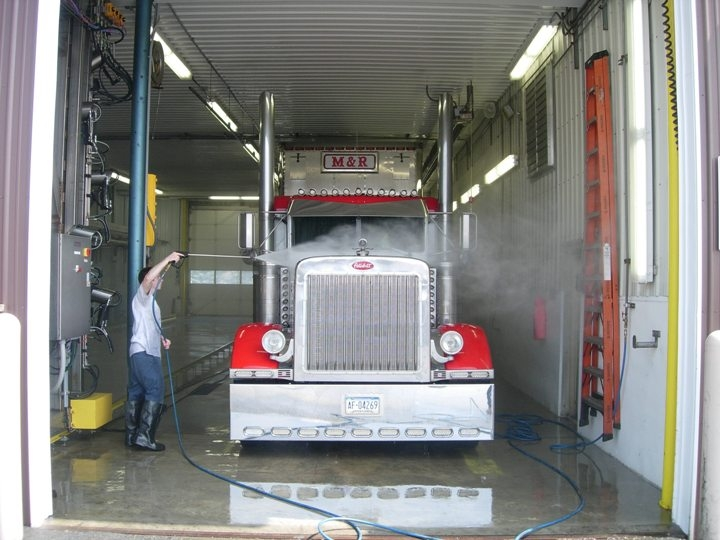 Truck washing system